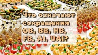 ПАМЯТКА ТУРИСТУ Расшифровка обозначений типов питания в отелях